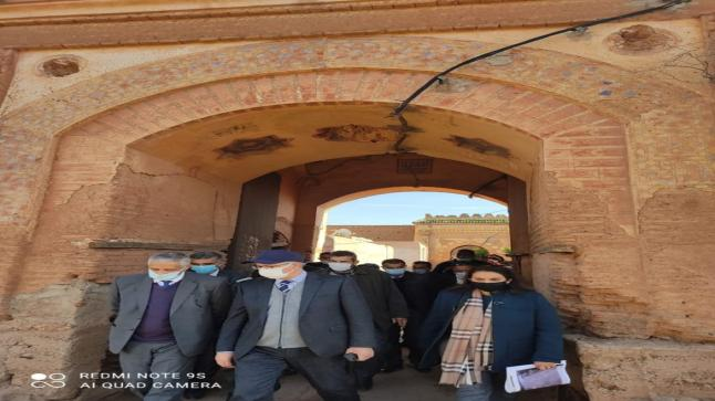 السلطات الولائية بمراكش تتفقد معالم تاريخية تعود لعهد السلطان حسن الأول بتراب جماعة تسلطانت