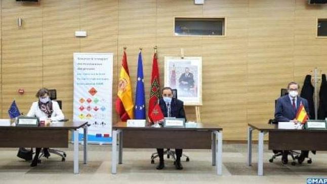 اختتام عقد توأمة لتأمين نقل البضائع الخطيرة عبر الطرق بين اسبانيا والمغرب