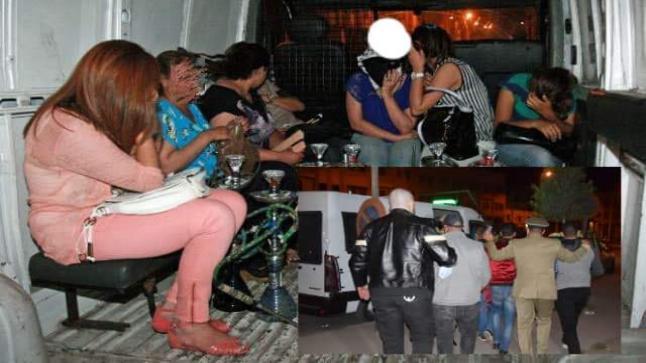 مداهمة مقهى للشيشة بالقنيطرة بسبب خرق حالة الطوارئ وتوقيف 28 شخصا من بينهم فتيات
